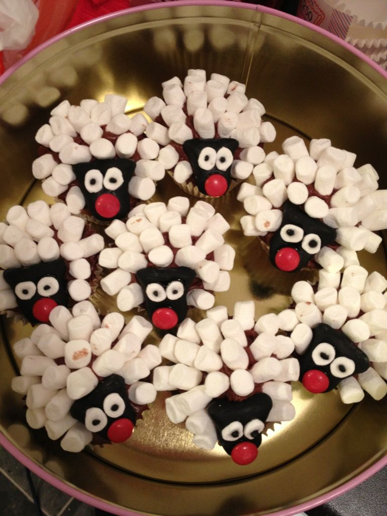 Sheep cupcakes for red nose day | red nose day in 2019 ...