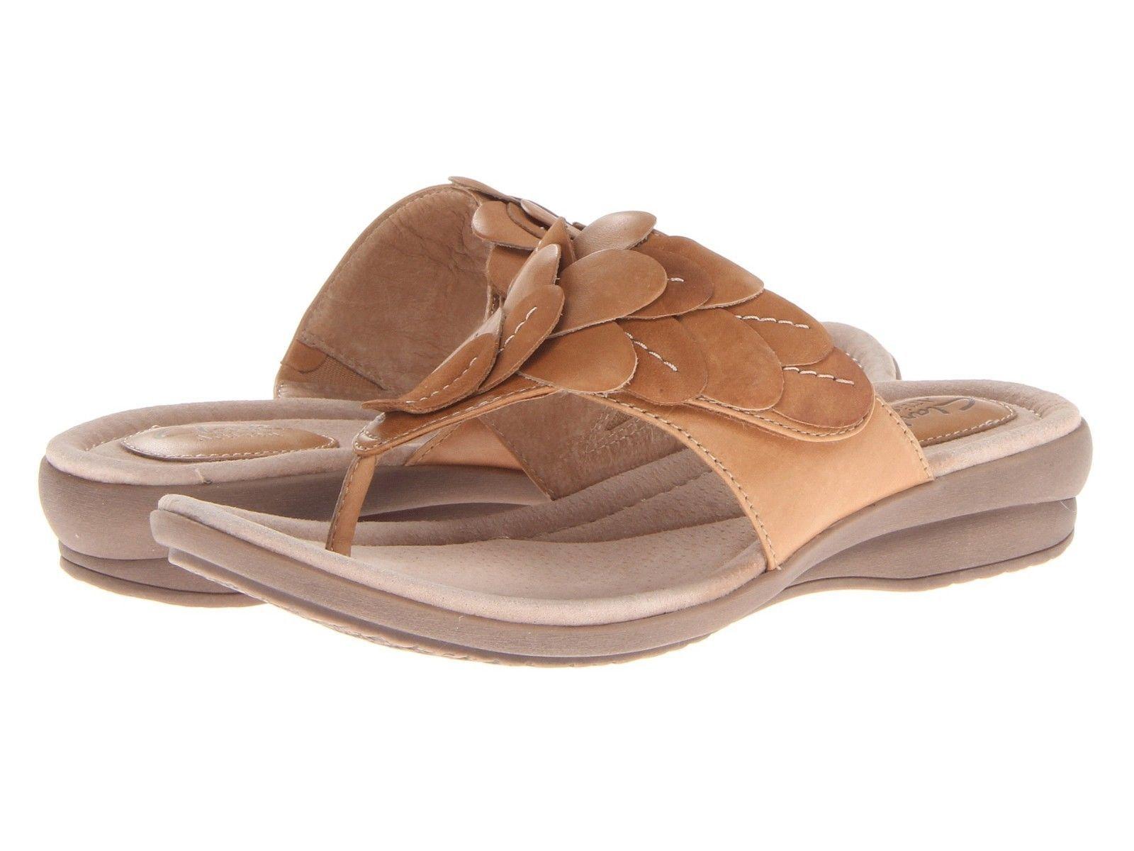 bd75893a055cfa Clarks Reid Ricki Sand Leather Floral Womens Sandals 68487 BNIB ...