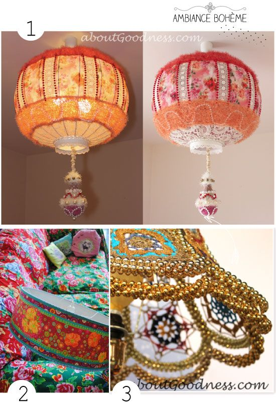 1 bohemian lampshade diy tutorial about goodness 2 abat jour express odile bailloeul 3. Black Bedroom Furniture Sets. Home Design Ideas