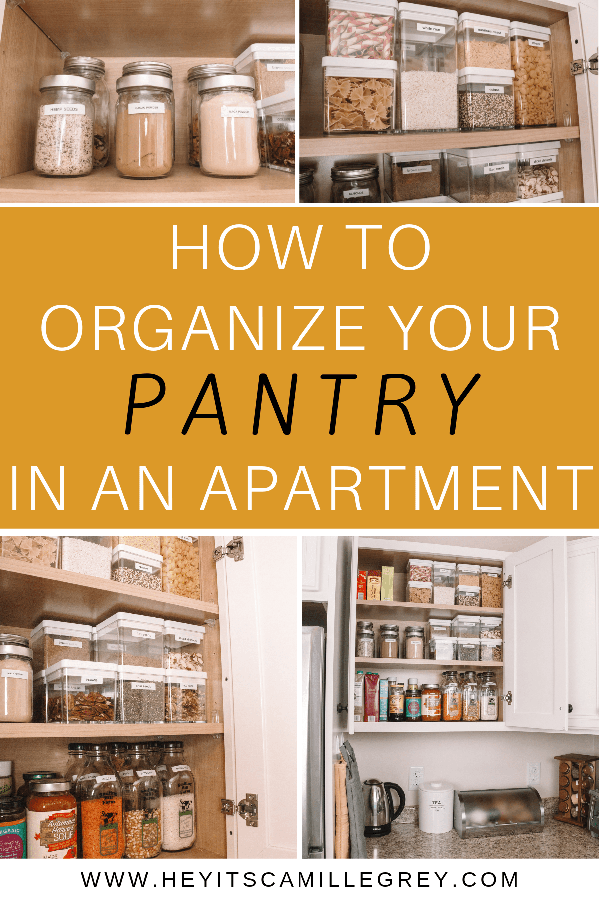 How to Organize Your Pantry in an Apartment | Eco Friendly + ...