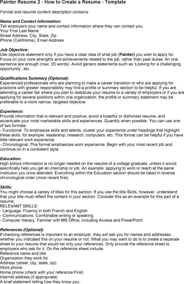 Painter Resume Fair Painter Resume Objectives Resume Sample - Painter Resume