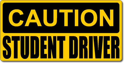 picture regarding Student Driver Sign Printable called cuotion studint driver Warning Pupil Driver Magnetic Automobile