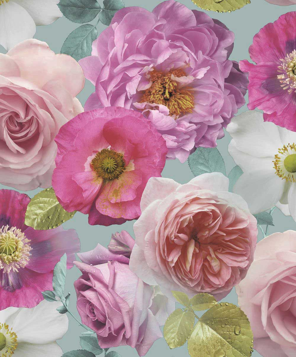Country Garden by Arthouse Teal Wallpaper 259600