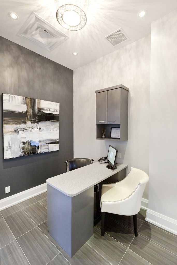 Consult nook instead of room totally makes sense for Dental office interior design