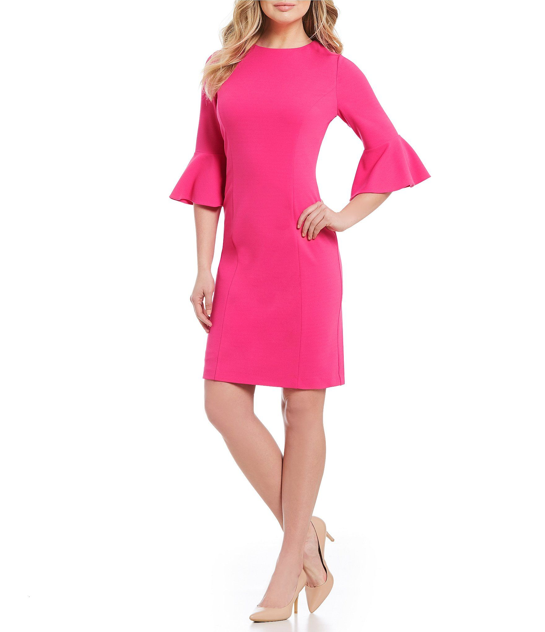 0dc3294ab71 Preston and York Robyn Sheath Dress with Bell Sleeves  Dillards ...