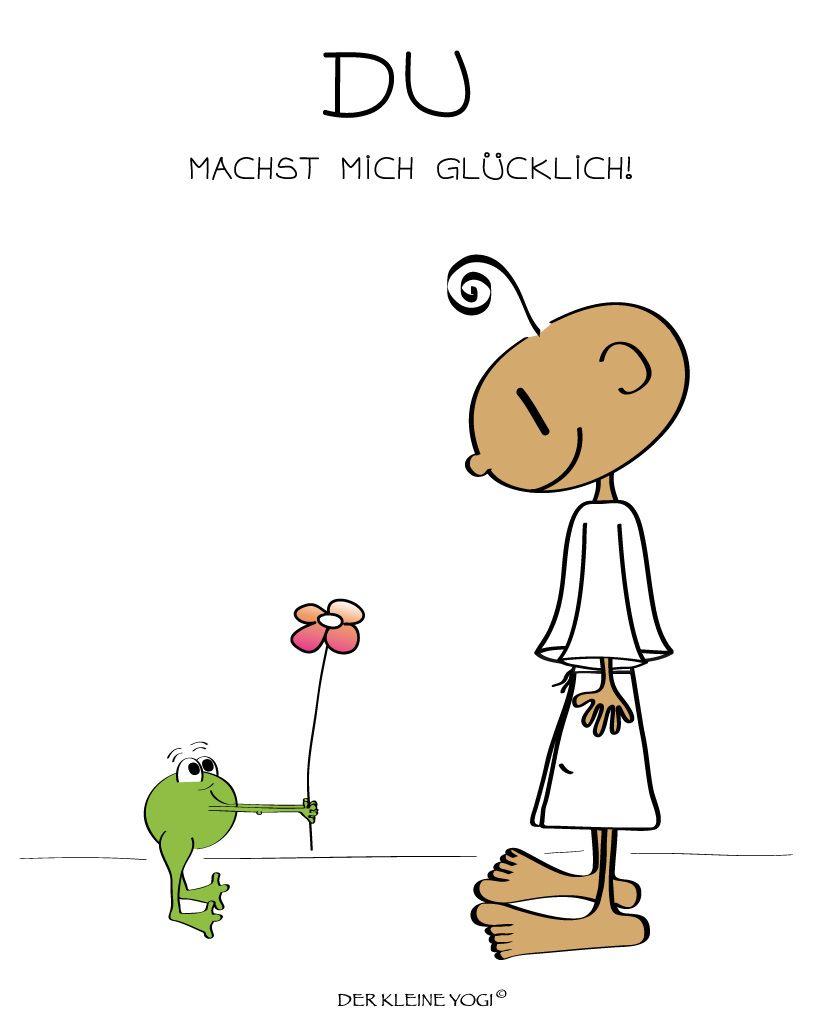 Postkarte - Du machst Mich glücklich (mit Bildern) | Aufmunternde sprüche, Glückliche sprüche
