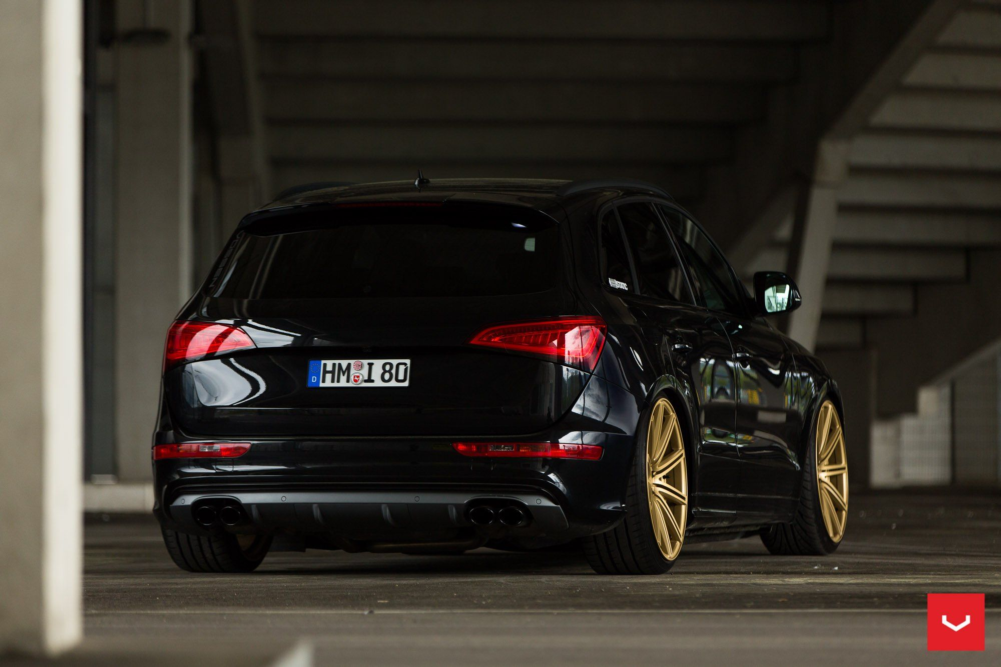 Audi Q5 Looking Menacing Being Blacked Out And Sitting On Bronze Custom Wheels