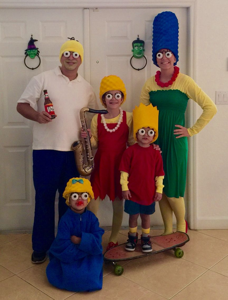 simpsons family costumes | my pins | pinterest | halloween costumes