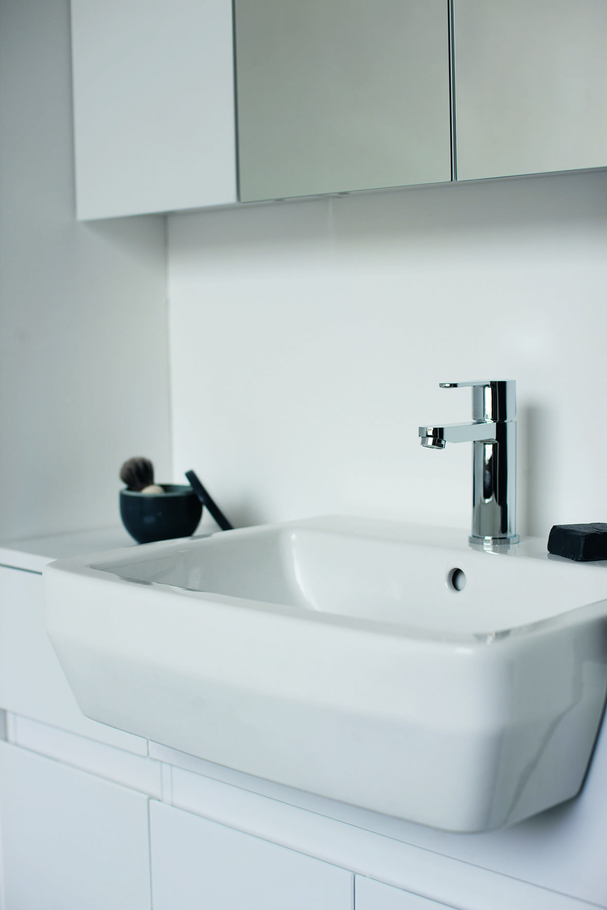 Perfect for modern bathrooms - Crystal Basin Mixer from Britton ...