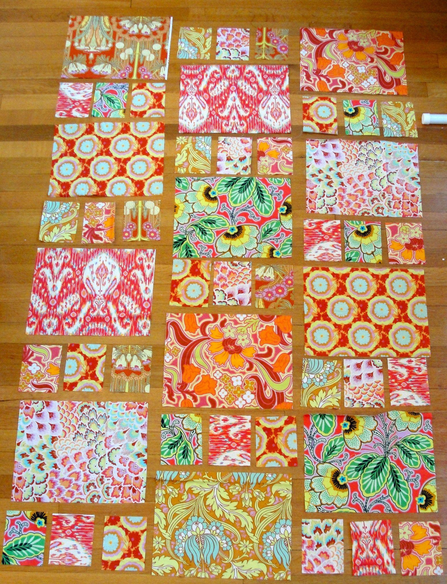 Amy Butler Boho quilt wip | Patchwork nähen, Patchwork und Selbermachen