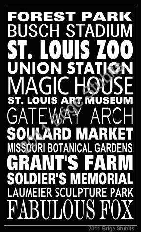 St. Louis Attractions--to go to all of these is now on my bucket list. Been to most, but can't wait to try out the others!