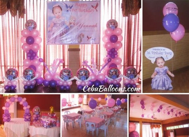 Sofia The First Balloon Decoration At Hannah's Party Place