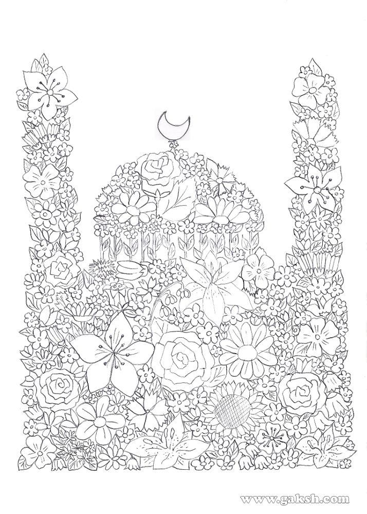 99 creative mosque projects masjid coloring pages in arabic