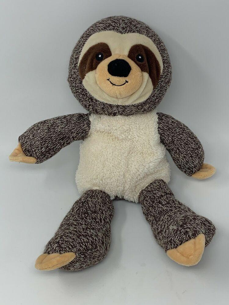 Spark Babies Plush Sloth Rattle Stuffed Knit Animal Infant