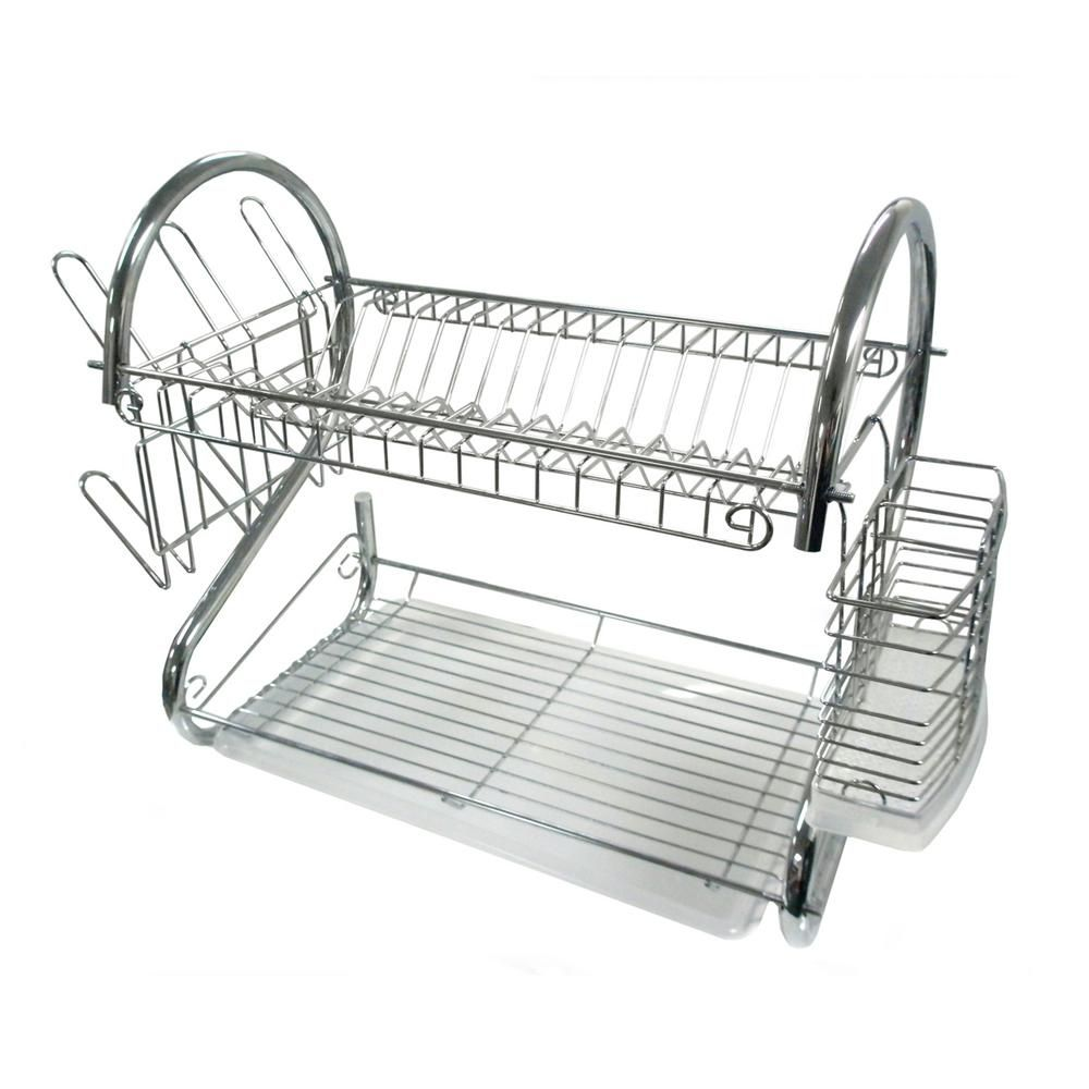 Better Chef 16 in. Chrome Dish Rack 98575780M - The Home Depot
