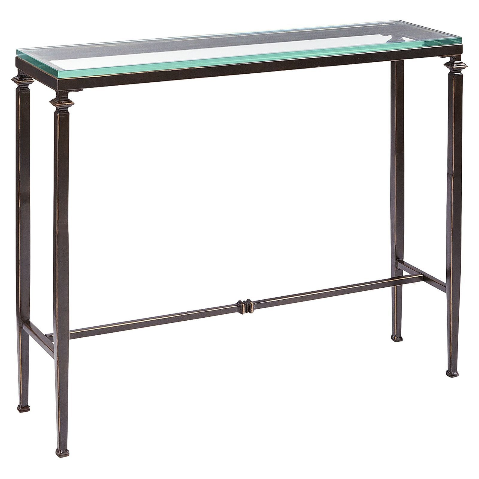 Console Table But Lincoln Tempered Glass Top Console Table Vassi Narrow Console