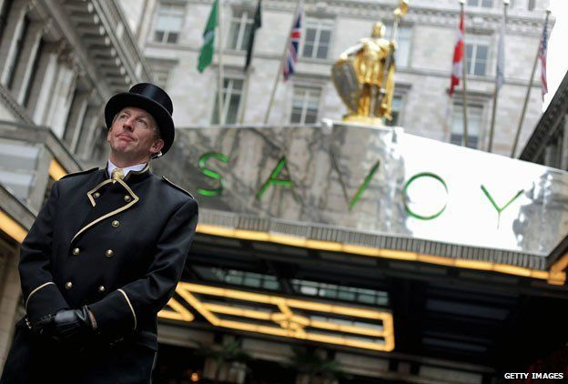 A doorman stands outside the Savoy hotel  sc 1 st  Pinterest & The element that made the 20th Century shine | Savoy hotel and ...