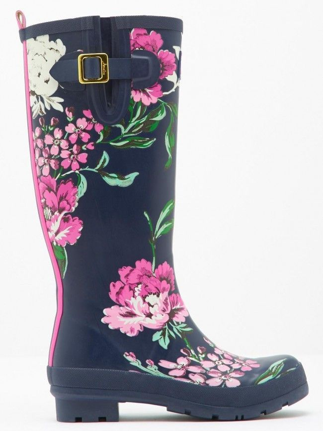 Make a splash with the Joules Welly Print Women s Rubber Rain Boots. These  rain boots feature  made of waterproof rubber 7099d794da7
