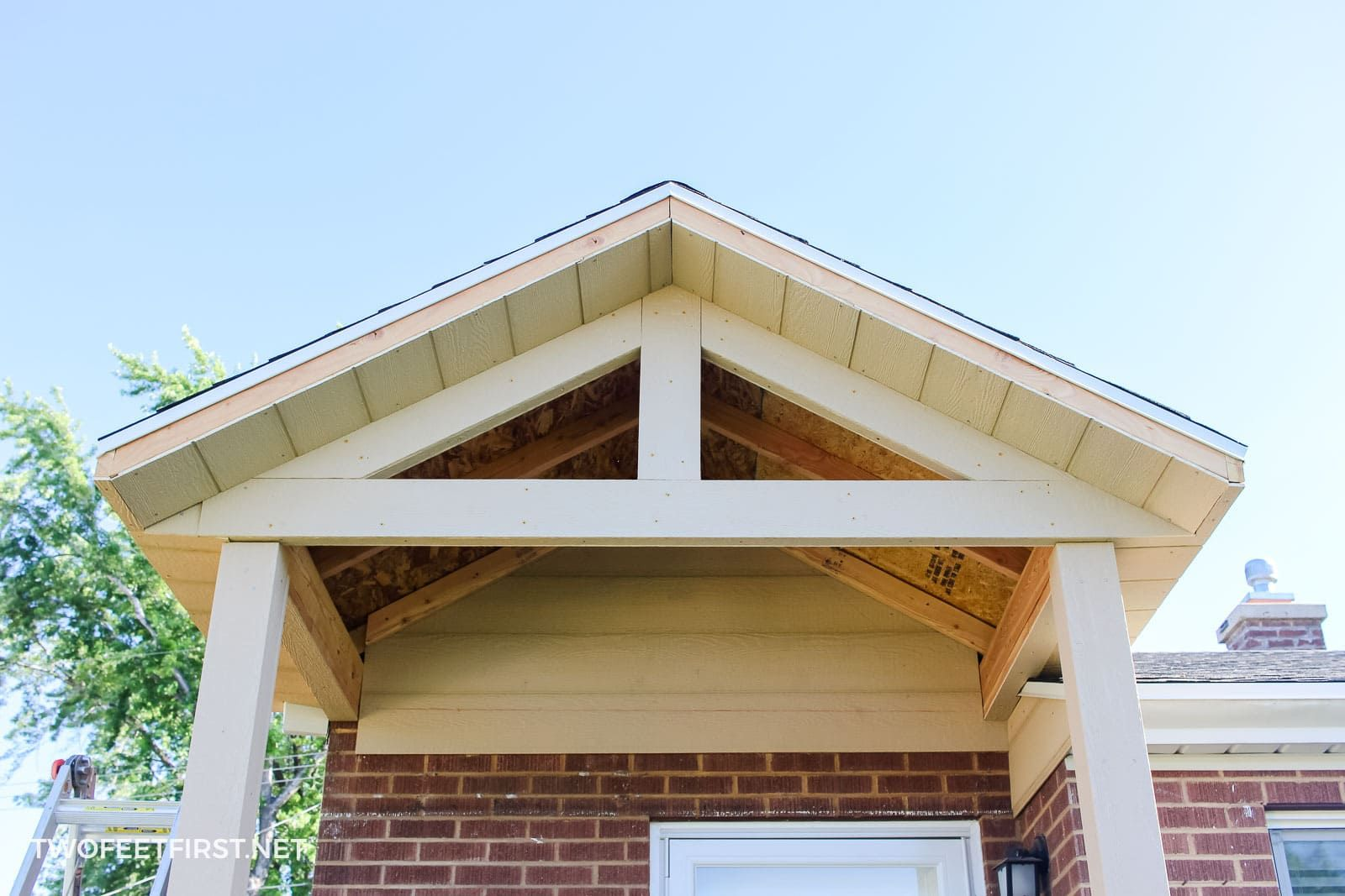Adding a front porch to an existing house front porch
