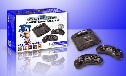 Atgames Sega Genesis Classic Console With 80 Built In Games Free Shipping And Returns Sega Genesis Classic Classic Games Sega Genesis