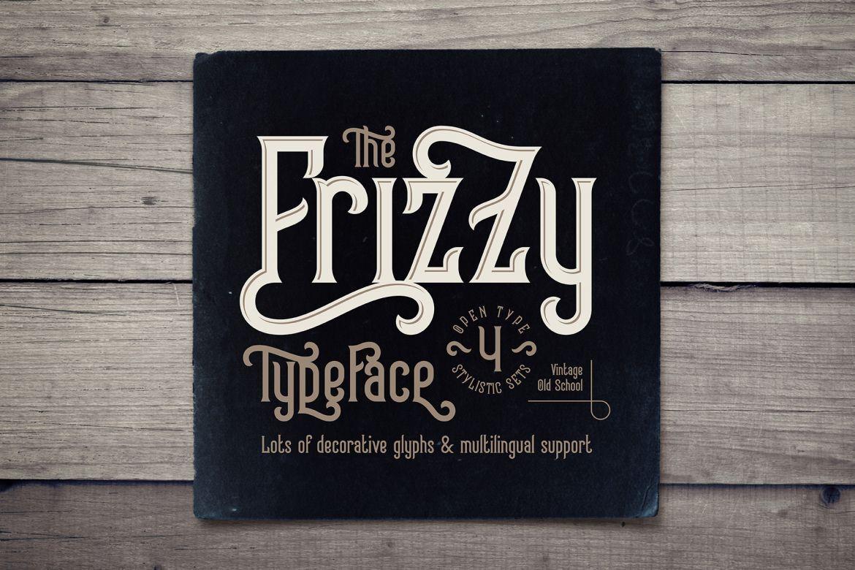 Frizzy Vintage Font In 2020 Vintage Fonts Unique Lettering Fonts Design