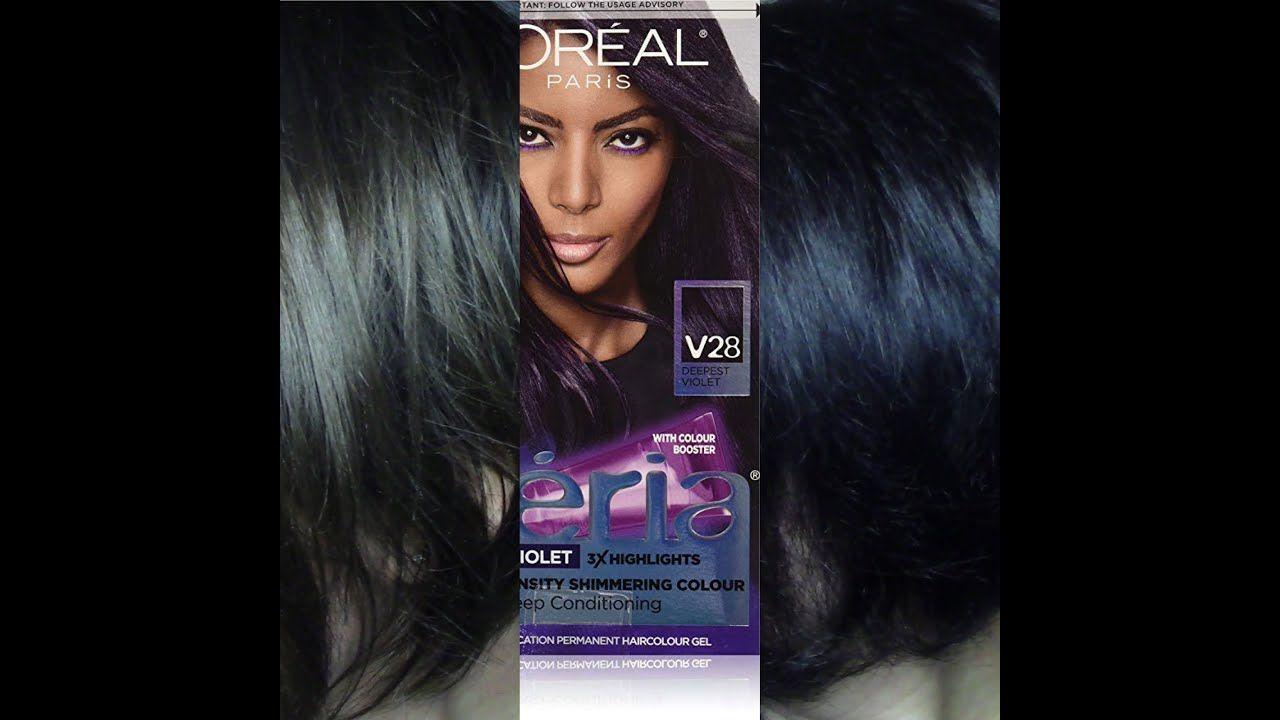 Feria Deepest Violet V28 How To Look Better Shimmering Color Purple Dye