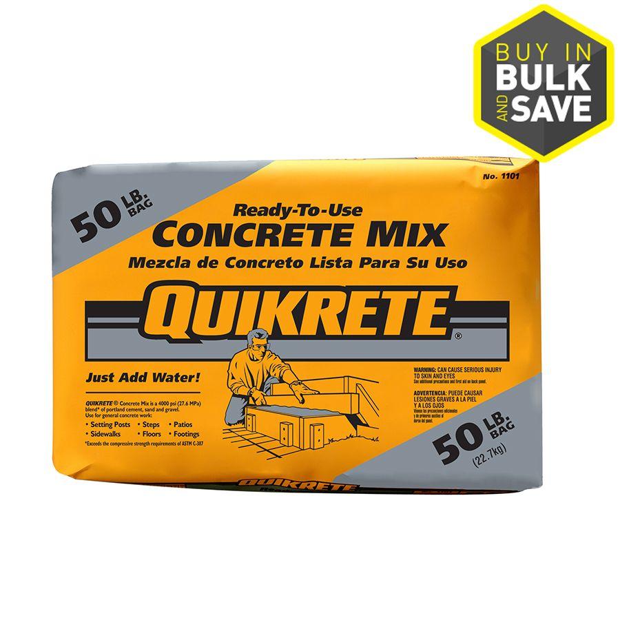 Best Quikrete 50 Lb High Strength Concrete Mix High Strength 400 x 300