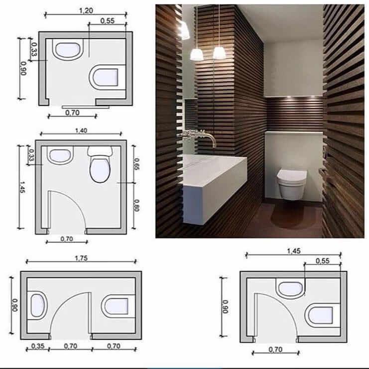 bathroom size and space arrangement  engineering