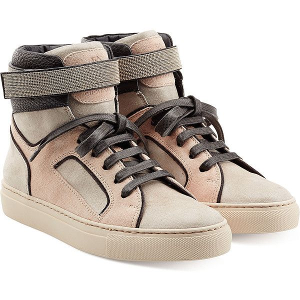 BRUNELLO CUCINELLI LEATHER HIGH-... discount find great professional for sale how much online clearance authentic free shipping deals Mo491