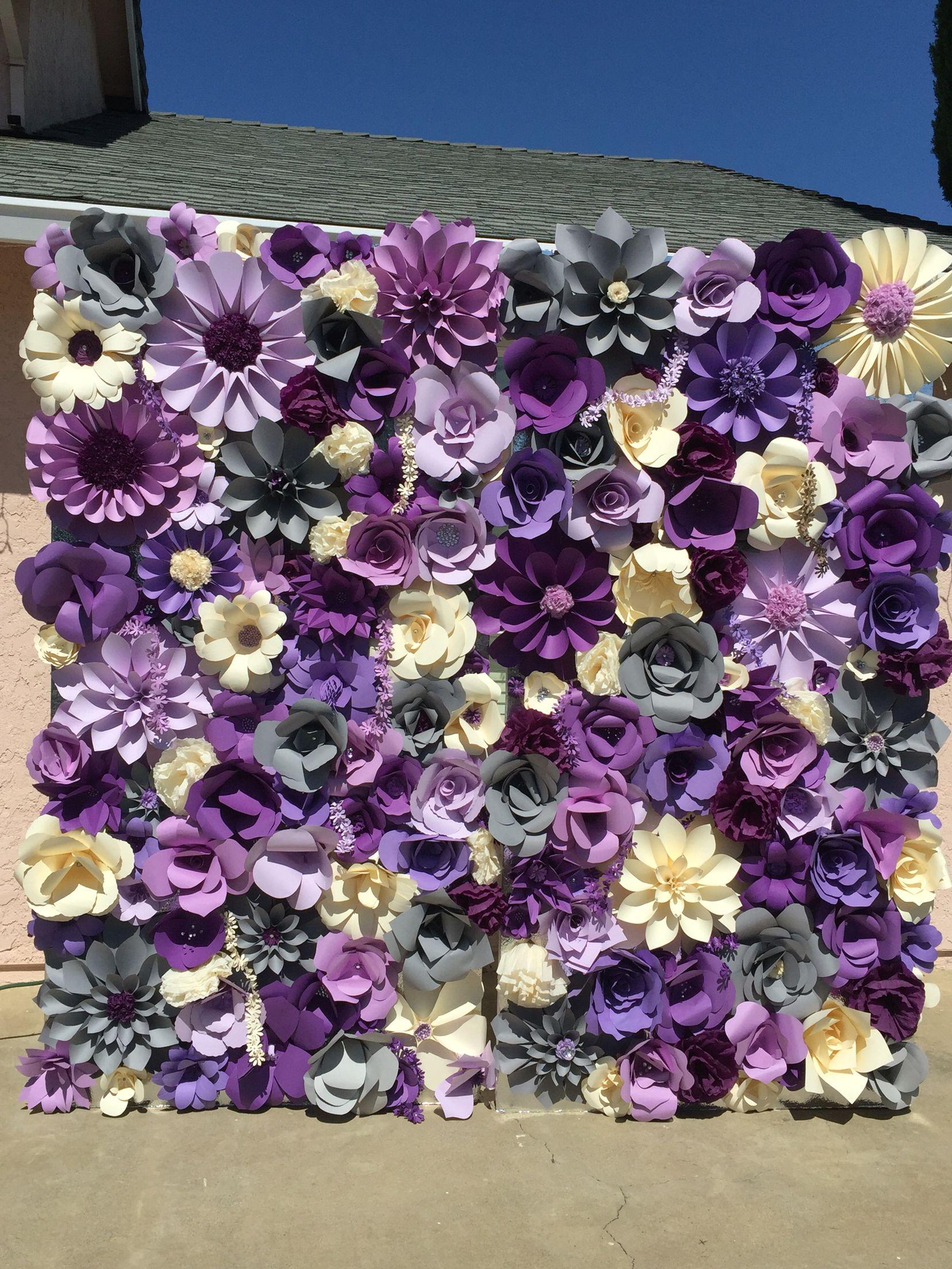 Diy Wall Flowers: Paper Flower Backdrop