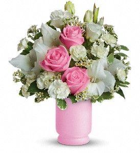 Teleflora's Pink and White Delight in Bonita Springs FL, Heaven Scent Flowers Inc.