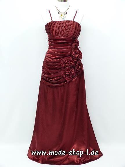 Spaghetti Träger Abendkleid Bodenlang in Dunkel Rot | Rote Kleider ...