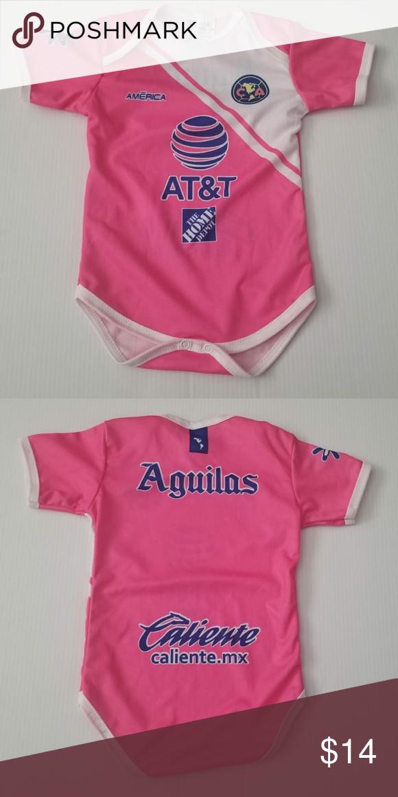 Club America Baby Jersey Baby Soccer Jersey Bodysuit Baby One-Piece