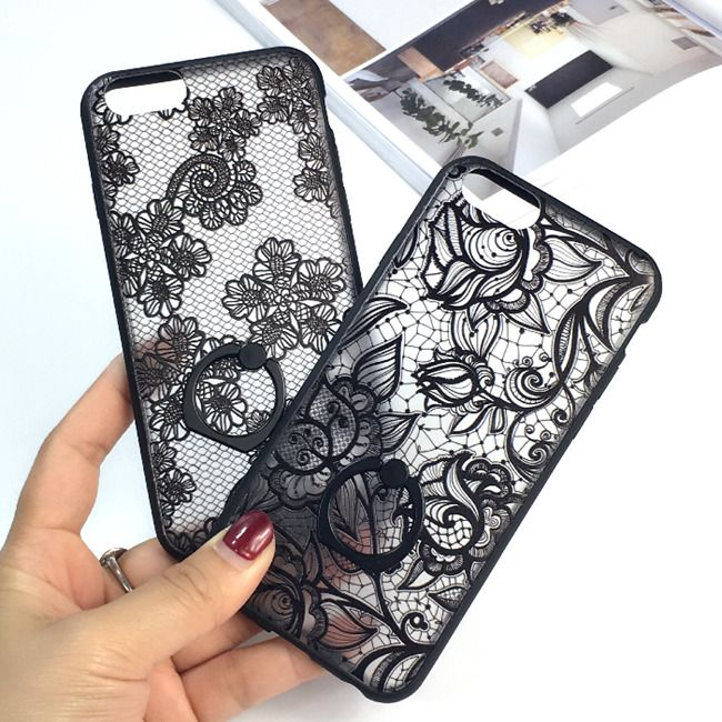 Cheap case cat, Buy Quality phone soft case directly from China phone sock case Suppliers: 2016 New Luxury Flower Lace Metal Ring Holder Stand phone cases For iphone 6 6s 6plus case cover