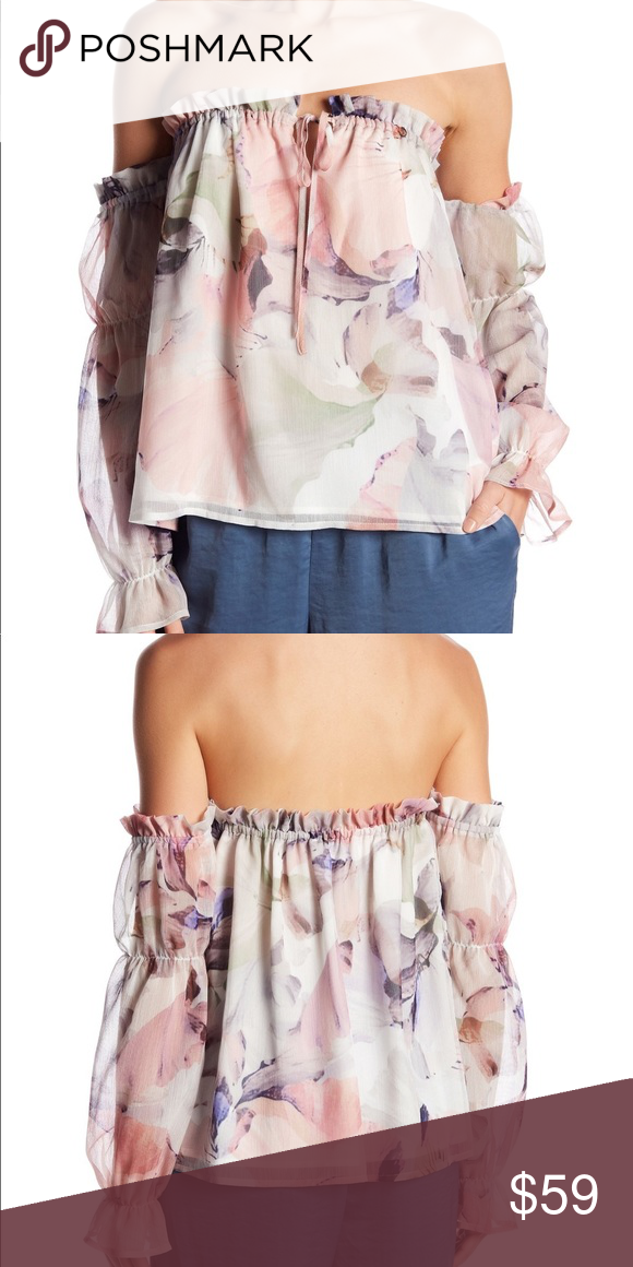 f0f31951bb9308 Vince Camuto Off the Shoulder Peasant Blouse NWT **Brand New with Tags** Vince  Camuto Off the Shoulder Diffused Peasant Floral Blouse Perfect for date  night ...