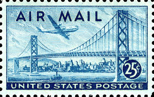 San Francisco Oakland Bay Bridge Postage Stamp Postage
