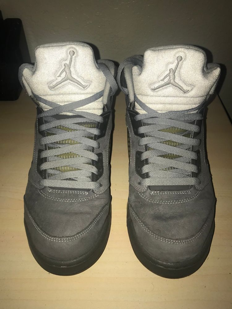 43b64a1cd3c2 Air Jordan 5 Retro Wolf Grey SKU 136027-005 Size 9