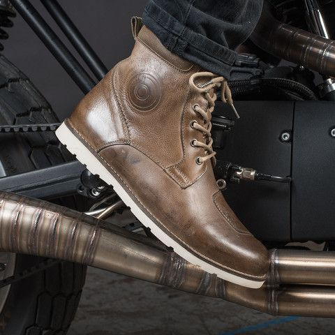 Rev/'it Mohawk 2 Urban Cafe Racer Motorcycle Boots Brown WhiteRev/'it Revit