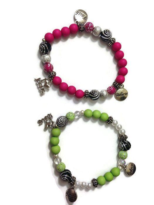 Christian Bracelet, Charm Bracelet, Christian Charm Bracelet, Christian Jewelry, Faith Bracelet, Jesus, God, Hot Pink, Lime Green, Flower by WomenAfterGodsHeart on Etsy