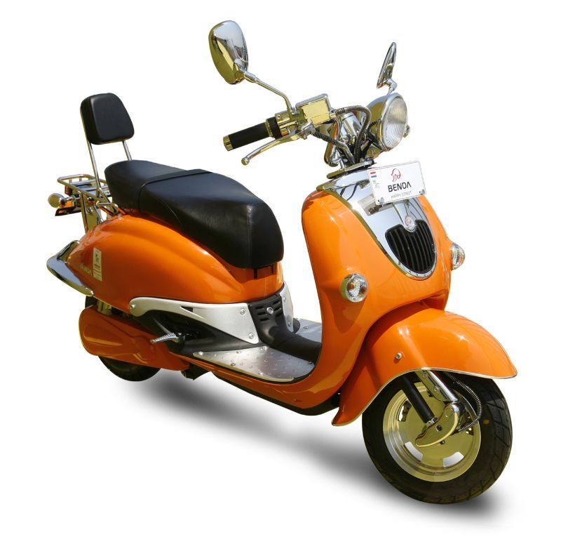 Orange Scooter Electric Vespa Vespa Scooters Scooter Bike