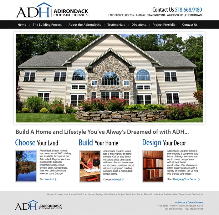 Home Builder Web Design: Residential Construction And Design Website Clients