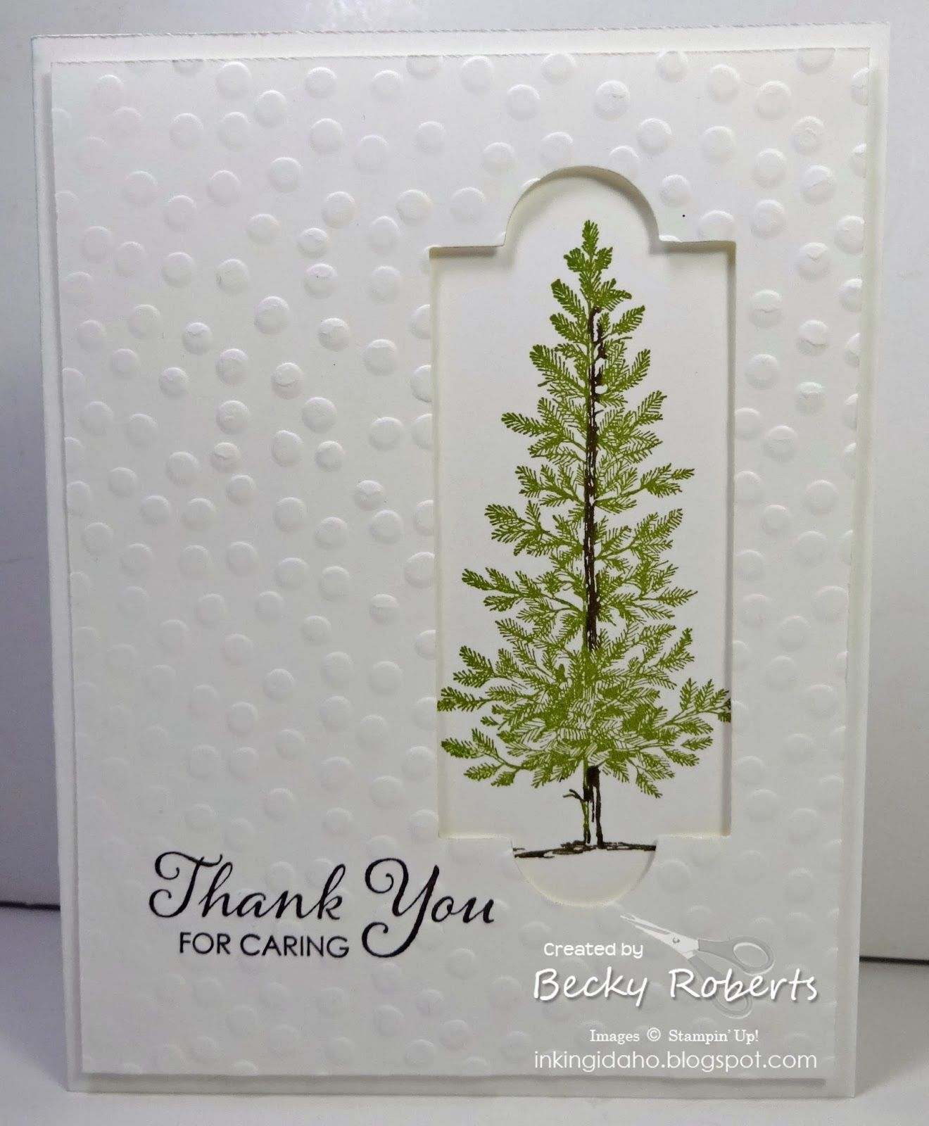 Lovely As A Tree thank you notes. Thank You For Caring