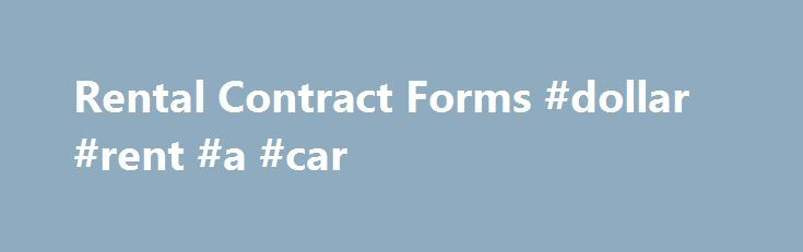Rental Contract Forms #dollar #rent #a #car   rentalremmont - apartment rental contract sample