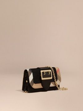 7d80811f2624 The Mini Buckle Bag in Leather and House Check
