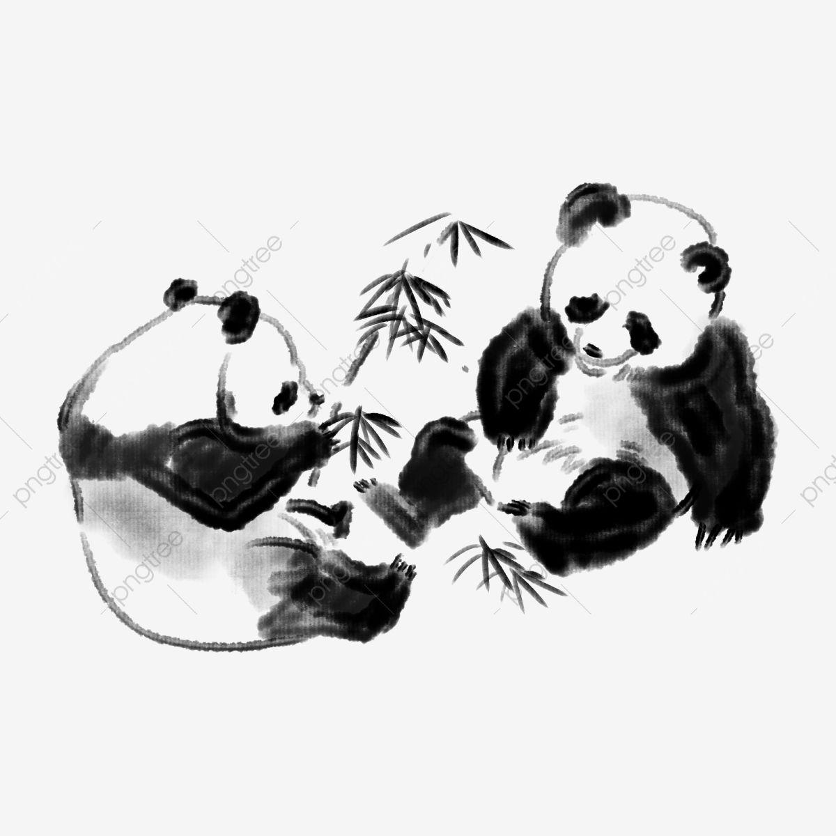 Black Panda Cute Panda Hand Drawn Panda Cartoon Panda Panda Clipart National Treasure Panda Black Bamboo Png Transparent Clipart Image And Psd File For Free Cartoon Background Cartoon Panda Red