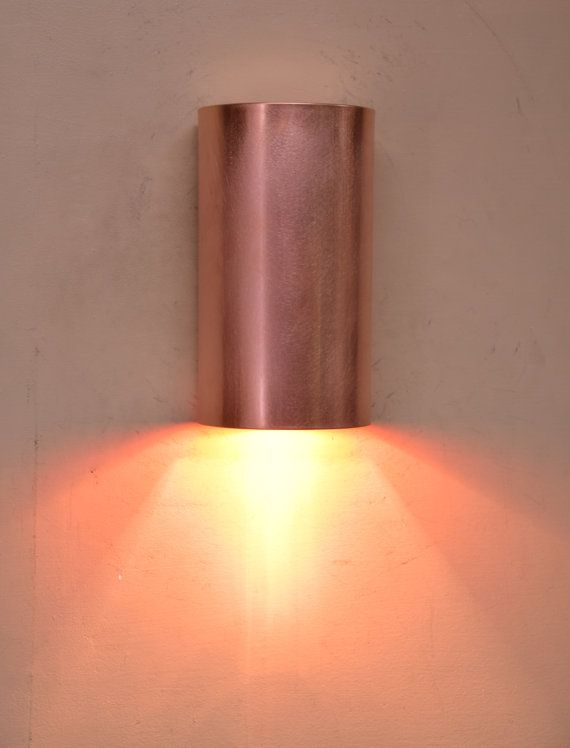Stainless Steel Or Copper Cylinder Wall Sconce 5 X 11 4 Interior Exterior Lighting