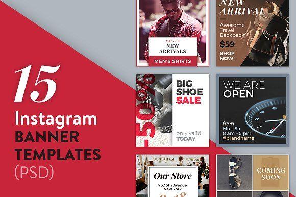 15 Instagram Banner Templates Psd Instagram Banner Banner Template Templates