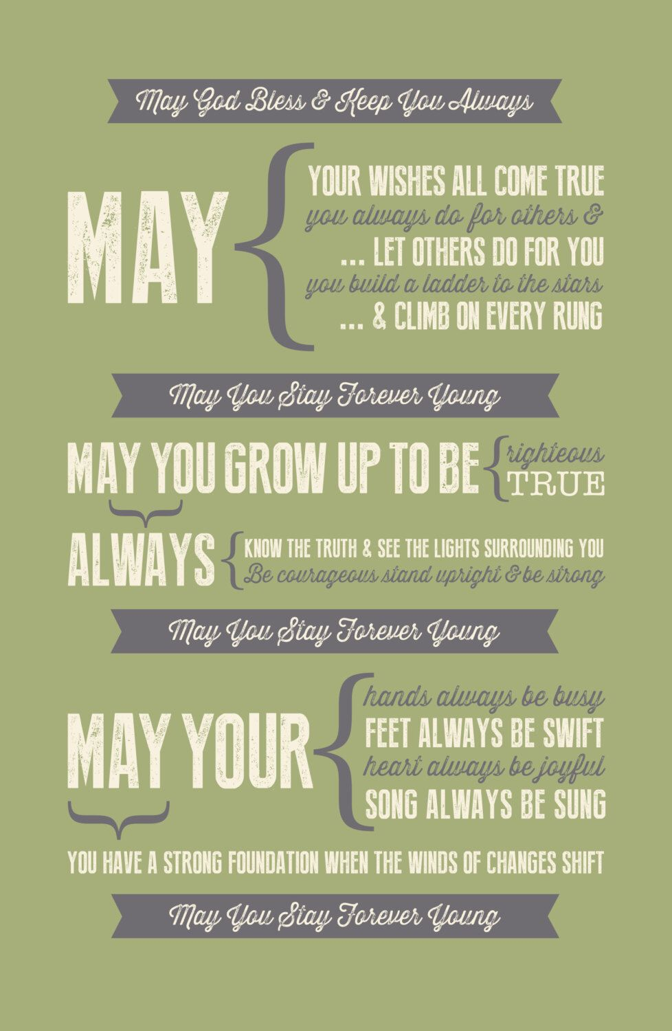 Forever Young Lyrics - free printable | baby love | Pinterest ...