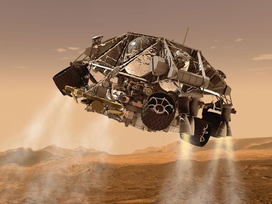 NASA - Curiosity and Descent Stage, Artist's Concept