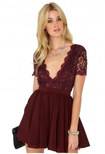 a6869530f06 Aleena Lace Plunge Neck Puffball Dress - Dresses - Mini Dresses - Missguided